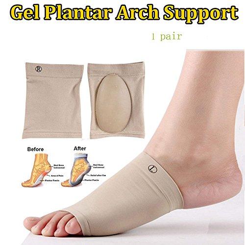 finlon Orthopädische Arch Support Plantarfasziitis Brace Sleeves Arch unterstützt 1Paar -
