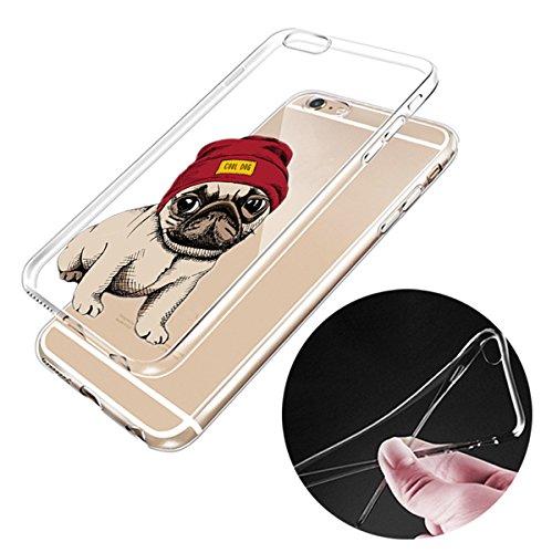 iPhone 6trasparente Cover Morbido Silicone Custodia TPU Chinese Shar-Pei Dog modello Bumper Case Leggero Antigraffio stossdaempfende caso per il iphone 6/6S dog12