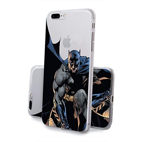 finoo | iPhone 8 Handy-Tasche Schutzhülle | ultra leichte transparente Handyhülle in harter Ausführung | kratzfeste stylische Hard Schale mit Motiv Cover Case |Logo become bat Batman Comic Close Up