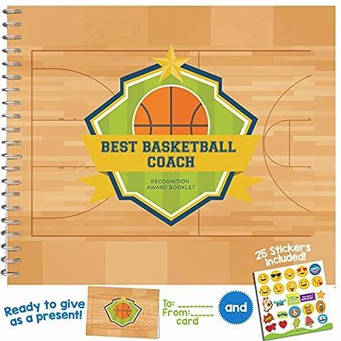 Meilleur Coach Livret de prix de reconnaissance Basketball
