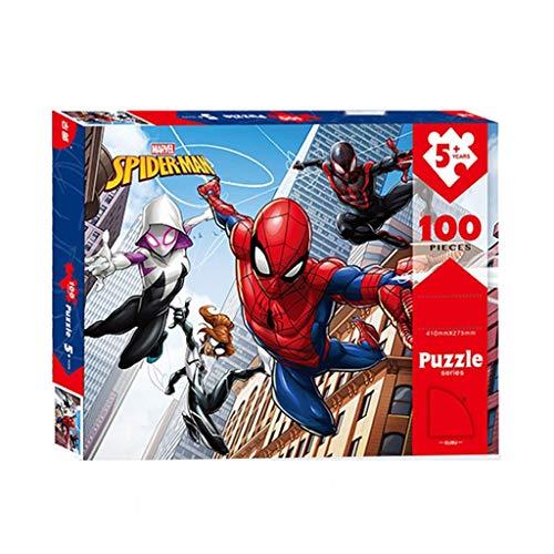 WYF Avengers Spider-Man-Comics-Puzzles, Marvel-Superhelden-Poster, Basswood Perfect Cut Fit, 100.200.300 Teile Fotografie in Schachteln, Spielzeug, Spielkunst, Malen für Erwachsene, Kinder P531 - New York Puzzle 300 Teile