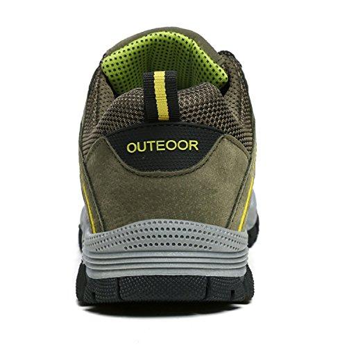 LILY999 Scarpe da Trekking Uomo Arrampicata Sportive All'aperto Escursionismo Sneakers Verde-1