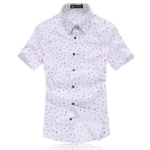 Men's Camisa Social Short Sleeve Casual Shirts pink