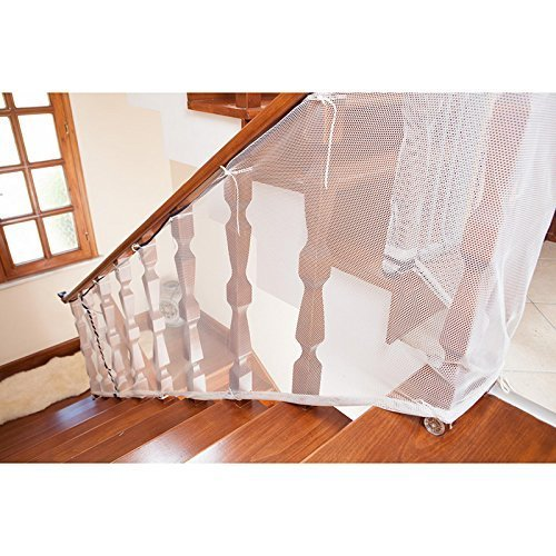 treasure-house Children Safety Net Baby Fall Protection Safety Net Durable Safe Rail Net Indoor Balcony and Stairway Safety Net Durable for Kids Pet Toy Safety, Indoor and Outdoor Stairs Balcony