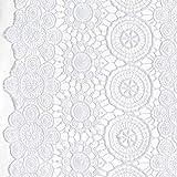 Fabulous Fabrics Spitze Bohemian – Weiss — Meterware ab