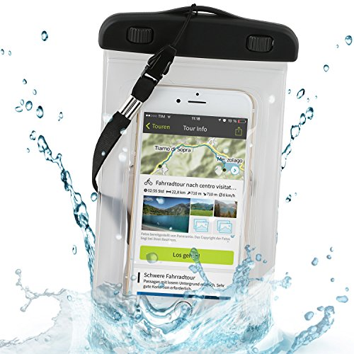 Wicked Chili Beachbag / Outdoor Bag XL für Handy / Smartphone bis 5.5 Zoll – Schutzhülle für Strand, Wandern, Outdoor (Schutz gegen Staub, Sand, Nässe / wasserdicht bis 3m Tiefe / IPx8)