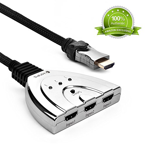Kinps ®3x1 Splitter HDMI, HDMI Switch 3