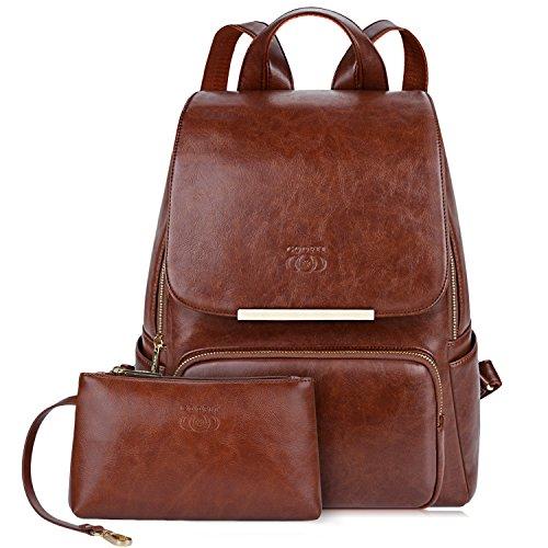Rucksack Damen Leder, COOFIT Damen Rucksack Leder Rucksack für Mädchen Schultasche Casual Daypack...