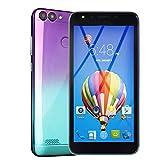 Smartphone, Colorful 5.5''Ultrathin Android 6.0 Octa-Core 512MB RAM+ 4G ROM GSM WiFi Dual-SIM-Dual-Kamera Unlocked Smart-Handy (Lila)