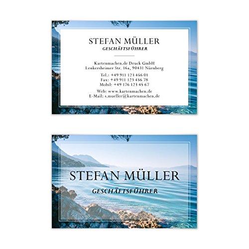 100 x Visitenkarten individuell Business Karten 300g/qm 85 x 55 mm - Urlaub