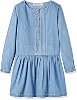 RED WAGON Girl's Chambray Dress, Blue, 4 Years