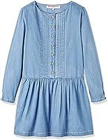 RED WAGON Vestito in cotone Chambray Bambina, Blu (Blue), 104 (Taglia Produttore: 4 Anni)