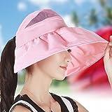 MAO Cappello Femminile Estate Sun Hat Versione Coreana del Sole Cappello Anti-ultravioletto Pieghevole Viaggio all'aperto Crema Solare Lungo Il Cappello di Spiaggia, D