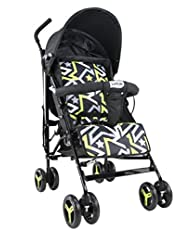 LuvLap Joy Stroller/Buggy, Compact & Travel Friendly, for Baby/Kids, 6-36 Months (Printed Black)