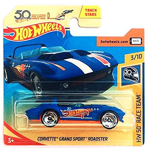 HOT WHEELS Corvette Grand Sports Roaster - 1:64 - blau (HW-Serie 3/10 HW 50 Race Team 2018)
