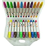 PartyErasers 3 en 1 - Crayon, pastel et WaterColour 24 Couleurs Twistable Gel Crayon de cire dans l'affaire
