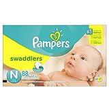 Pampers Swaddlers Windeln Größe N Super Pack 88Zählen
