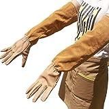 MERRYHOME Ziegenleder Thorn Proof Puncture Resistant Bramble Handschuhe, Heavy Duty lange Ärmel Arm Protektoren Gardening Stulpen Handschuhe für den Schnitt Rosen Dornen Kaktus Handling(Mideum)