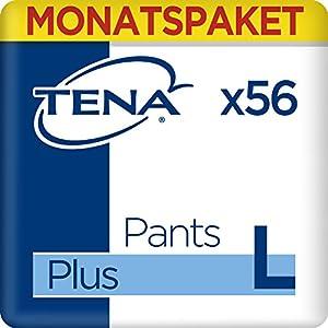 Tena Pants Plus Large, Monats-Paket mit 56 Pants (4 Packungen je 14 Einweghöschen)