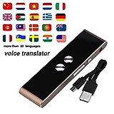 Intelligente Stimme Übersetzung, über 33Sprachen, Hand Pocket Travel Business Konferenz tragbar Übersetzer. braun