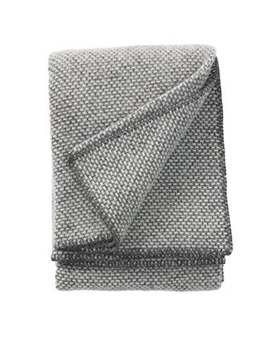 Klippan Domino classique couvre-lits et couvertures, gris foncé, 180 x 130 x 0.5 cm