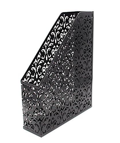 Generic - Soporte para revistas, carpetas y papel, resistente, organizador de escritorio y oficina, color negro
