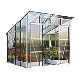Freya 7600 Alu-Gewächshaus HKP 6 mm Treibhaus 7,6 m² Gartenhaus Pavillon