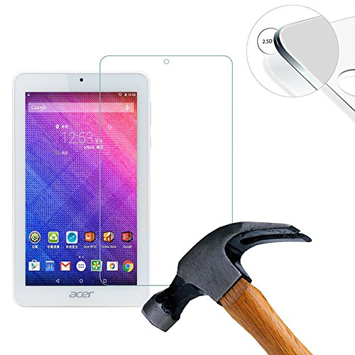 Lusee 2 x Pack Panzerglasfolie Schutzfolie für Acer Iconia One 7 B1-780 Bildschirmschutz Tempered Glass Folie Screen Protector Panzerfolie Glasfolie 0,3 mm 9H Clear 2.5D