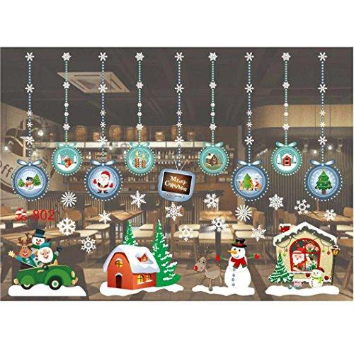 Vogel Sham (Weihnachtssticker AMUSTER Weihnachten Wandtattoo Wohnzimmer Weihnachten Weihnachtsmann Schneemann Elch Wandaufkleber Fenster Dekor (B))