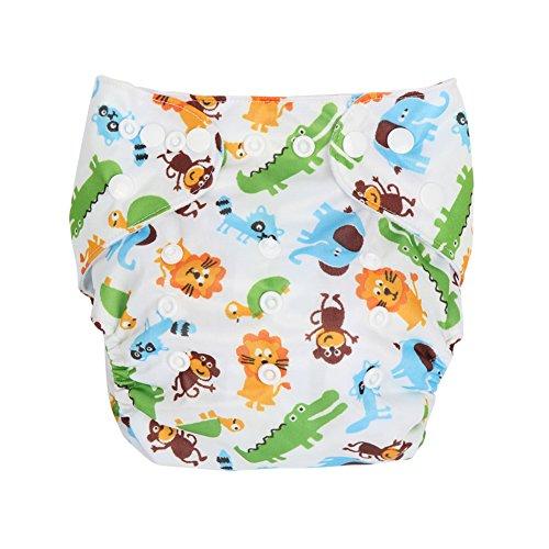 Letech® Baby Stoffwindel Windelhose Babywindel Größe Verstellbar (Zoo)