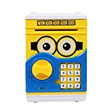 #7: Asian Hobby Crafts Battery Operated Mini ATM Safe Kids Piggy Saving ATM Deposit for Kids Cartoon: Mo=Inion