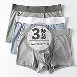 Unterwäsche Komfortable Baumwolle männlichen jungen Männer boxer Slip vier Kurzfilme Kopf Männer Hosen atmungsaktiv Thin 3 Paare, D, L