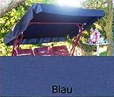 Merino Europa Sonnendach, Schaukeldach, Ersatzdach Hollywoodschaukel, nach Maß passt überall Farbe blau (mit umnähten Kanten)