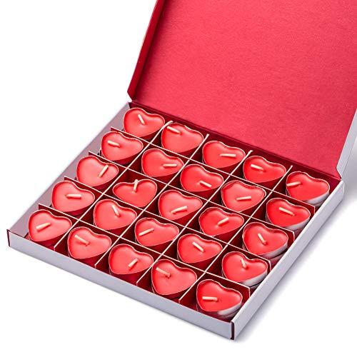 Kaiercat Geburtstagskerzen-Set, Romantic Love - geformte Dekokerzen für Hochzeit, Party, Halloween, Weihnachten, Festival (rot) rot