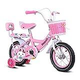 Zhijie-chezi Kinderfahrräder , 2-7 Jahre altes Kinderfahrrad, Mädchenpedal-Dreirad, Rahmen aus Hartstahl, beleuchtetes Hilfsrad, 3 Größen (12 Zoll / 14 Zoll / 16 Zoll) Pink (größe : 12 Zoll)