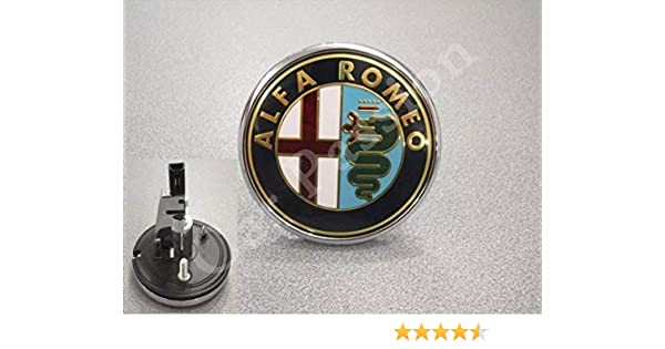 stemma logo ALFA ROMEO ANTERIORE GIULIETTA 159 BRERA FREGIO ORIGINALE 74mm