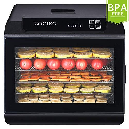 zociko Déshydrateur Alimentaire, Machine électrique deshydrateur déshydrateur d'Aliments séchage de légume et...