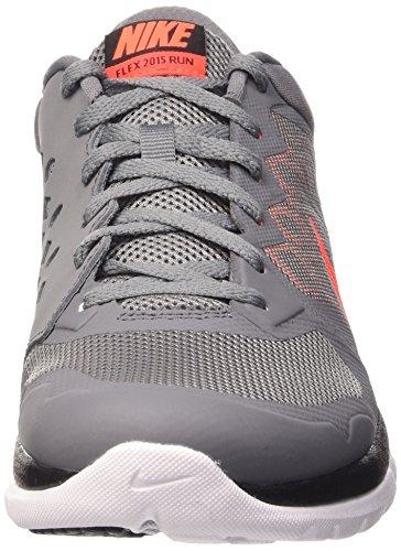 Nike - Flex 2015 Rn - , homme Gris / Naranja / Blanco (Cl Gry / Hypr Orng-Brght Crmsn-U)