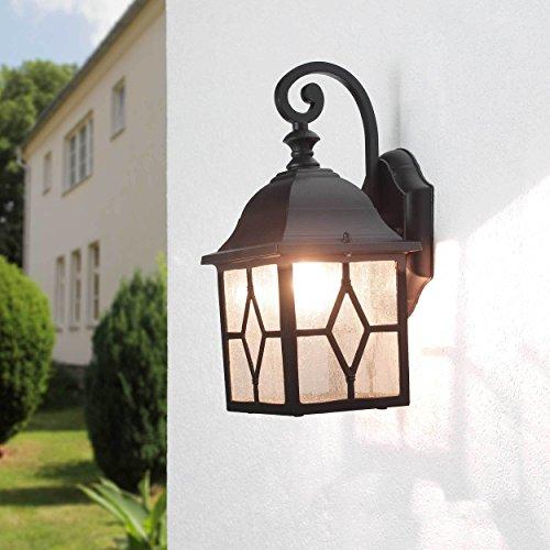 "Rústico Pared Iluminación EXTERNA \""Lübeck\"" en Negro Colgante / E27 Hasta 60w 230v / farol de pared para Exterior"