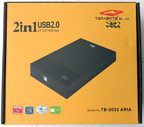 "Terabyte 2 in 1 External Hard Drive Casing for 2.5"" & 3.5"" Sata Hard Drives Dual 2.5 inch and 3.5 inch HDD Enclosure"