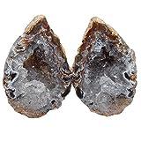 Achat Geode PAAR aufgeschnitten, poliert A* Qualität Größe *S* ca. 30 - 40 mm