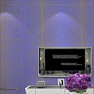 al-mullk Floral Wallpaper Contemporary Wall Covering , Non-woven Paper High-end Modern Minimalist Aesthetic , purple