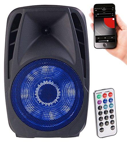 auvisio Mobile Partybox: Mobile PA-Partyanlage mit Bluetooth, MP3, USB, SD, 200 Watt, Karaoke (PA Anlage)
