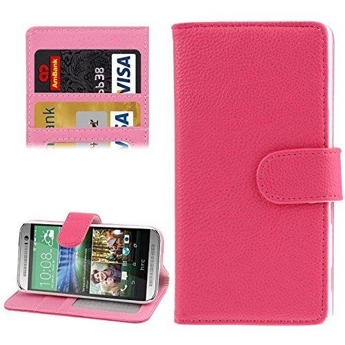 HTC One mini 2 Handy Hülle Schutzhülle Schutztasche Tasche Case Cover Etui Schale Handyhülle Handyschale Handytasche Pink