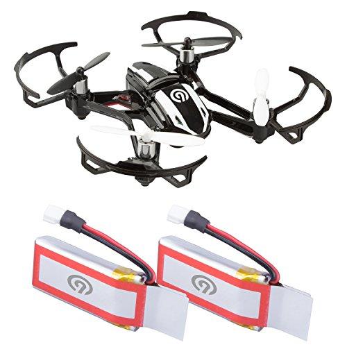 2x Original NINETEC 450mAh Ersatz Akku Batterie für Spyforce1 Mini Video Drohne