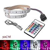 Kingko LED Stripes, Stripe, Lichterkette, Band, Streifen, LED Leiste USB2835 LED-Lichtleiste -24 Schlüssel Fernbedienung 50cm 100cm 200cm (200cm)