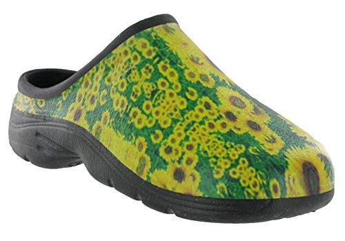 shoeshoebedo  Clogs,  Unisex Erwachsene hinten offen Sonnenblume