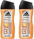 adidas adipower Duschgel für Herren, 2er Pack (2 x 250 ml)