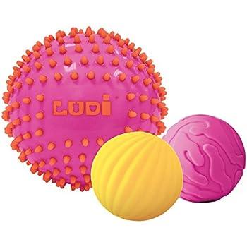 Balle Sensorielle B/éb/é sans BPA Balle Texture B/éb/é,6PCS Balle de Massage Jouet Caoutchouc pour B/éb/é de 6 Mois et Plus,Diam/ètre 6,5cm 6pcs