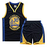 Ragazzi Ragazza Basketball Uniform NBA Warriors 30 Curry Summer Sports Jersey Canotta da Basket Classic Top & Shorts